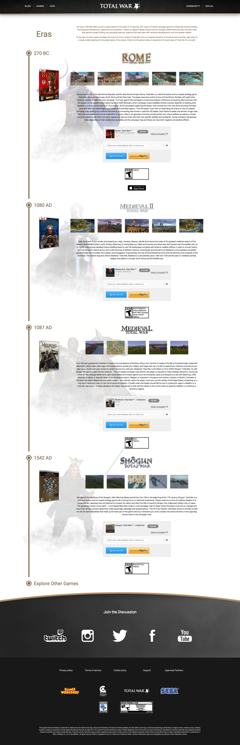 Total War - Eras Page